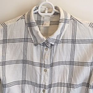 White window pane flannel from H&M, size 4